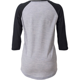 Mons Royale W's Phoenix Raglan Dirt 3/4 Shirt Black/Grey Marl